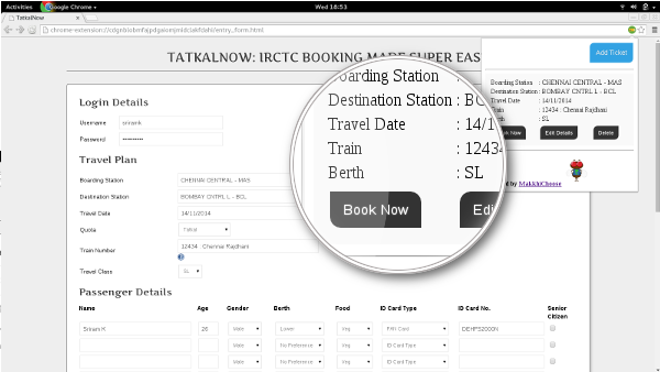 100% working : book tatkal ticket fast